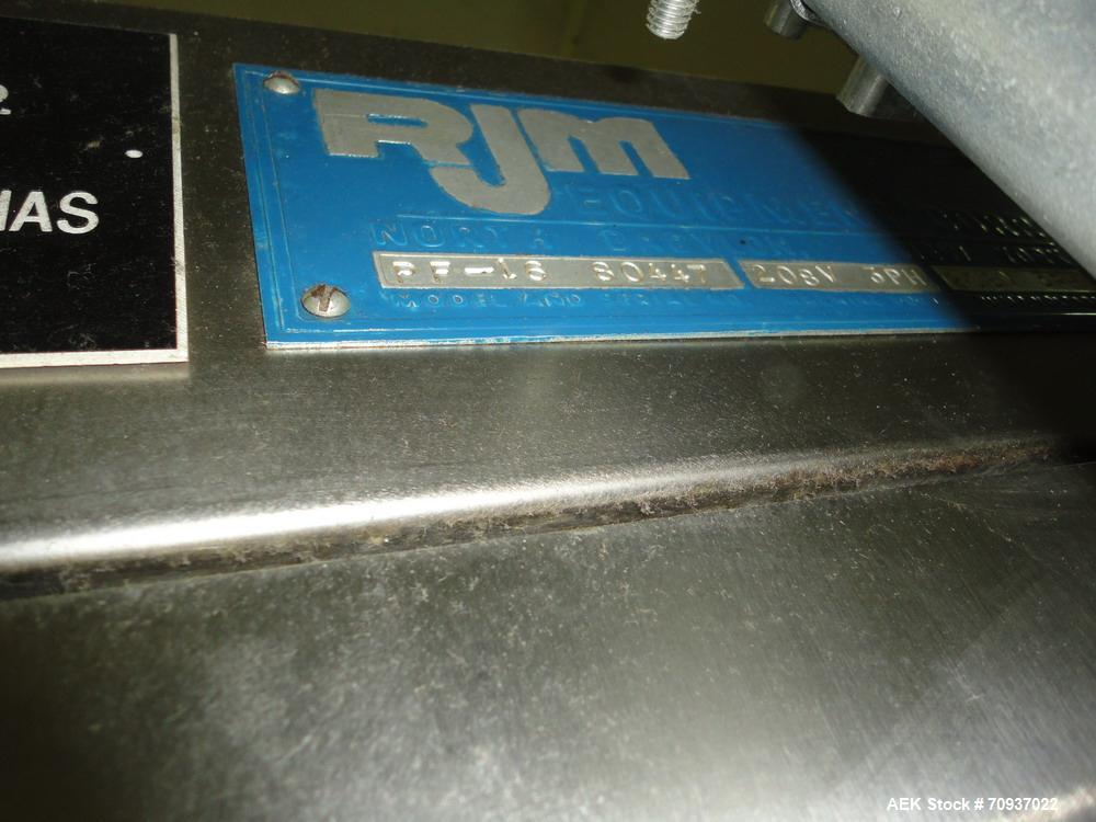 Used- RJM 16 Head Rotary Vacuum Pocket Filler