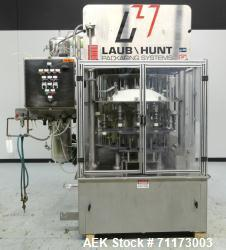 Used- Laub Hunt Posifiller 16 Head Rotary Piston Filler