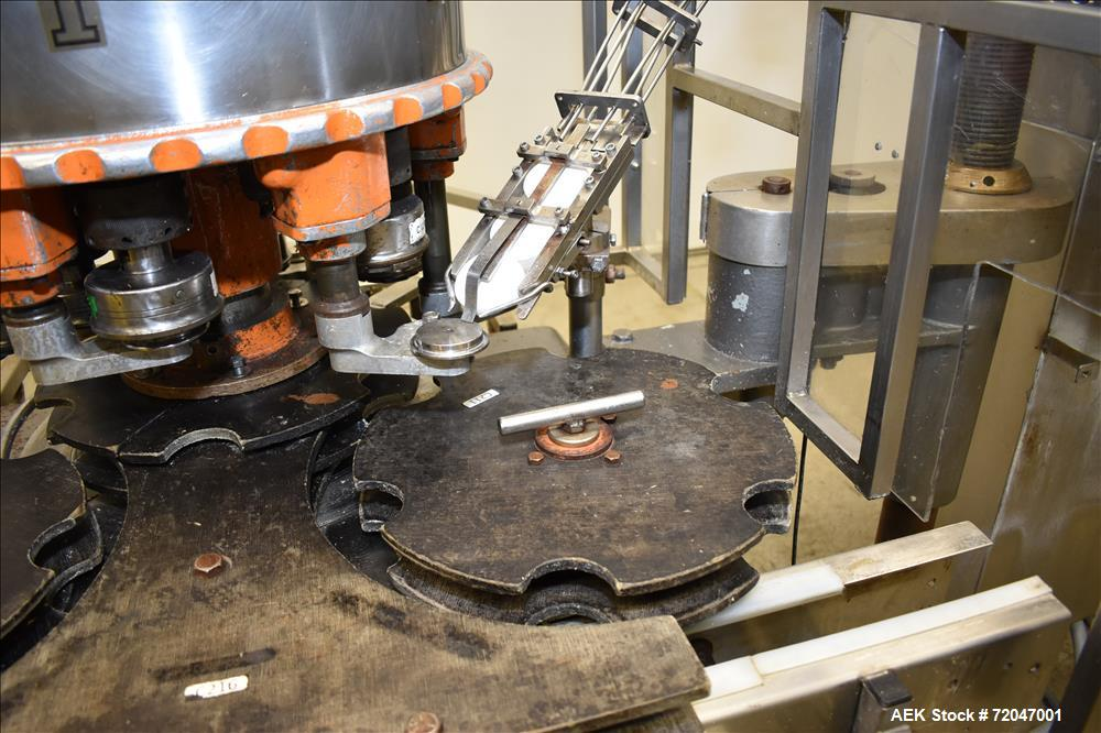 Used- Model RPF-12 Rotary Piston Filler and Consolidated TG-6-15 Rotary Chuck Ca