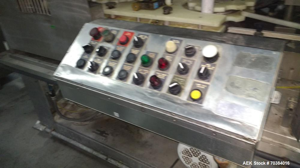 """Used- MRM 30 Piston Filler. Last running pie dough in a can. 2"""" piston with 7"""" stroke - 12oz capacity. Infeed screw with inf..."""