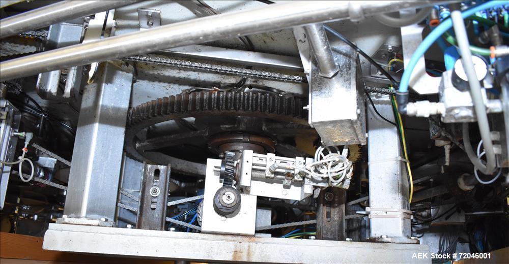 Used- HEMA Model MRH 30/24 T24 Volufill 30 Head Rotary Piston Filler.