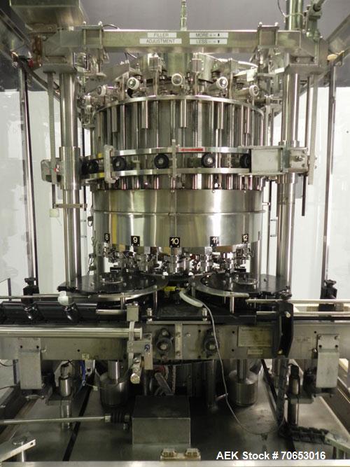 Used- Serac Model DT16C 16-Head Liquid Piston Filler
