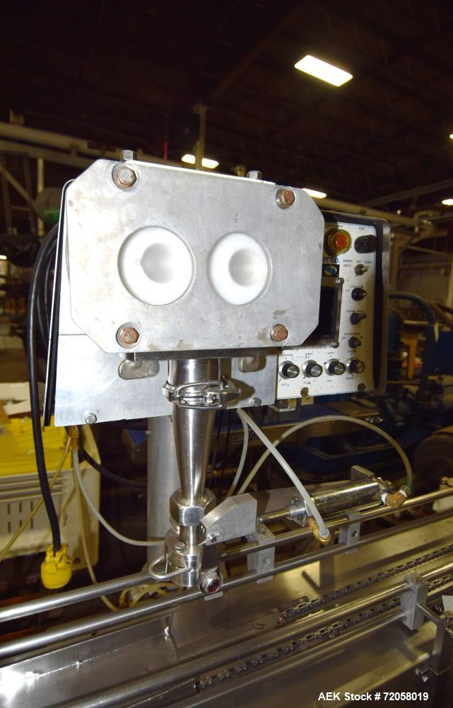 "Used- Mateer-Burt Bursa-Fill Filler, Model 50S. Up tp 80 fills per minute, allowable solids up to 7/8"" cube. Includes a stai..."
