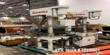 Used-All Fill Model DHAA-400 Dual Head Automatic Inline Auger Filler. Capable of speeds up to 60 cpm depending on product. H...