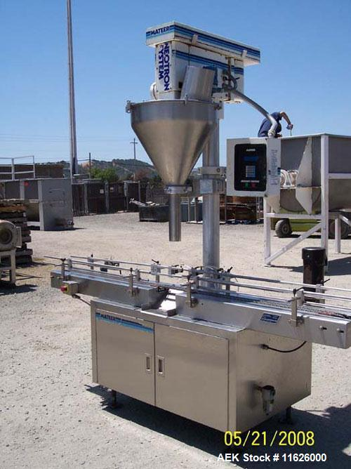 "Used- Mateer 3920 Single Head Inline Auger Filler. Unit has Microset controls, stainless steel construction and 2-1/2"" diame..."