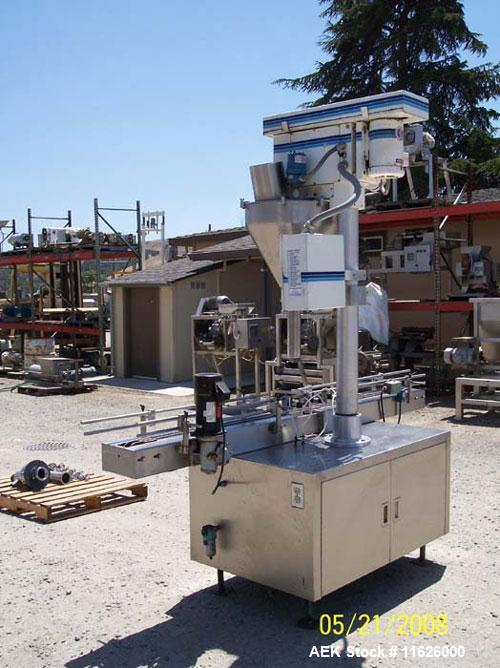 """Used- Mateer 3920 Single Head Inline Auger Filler. Unit has Microset controls, stainless steel construction and 2-1/2"""" diame..."""