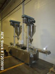 Barry Wehmiller (Mateer) model 4820 Automatic Twin head Auger Filler. Has pin indexing system, agita...