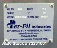 Used- Per-Fil Industries Micro-SCW Single Head Automatic Powder Auger Filler