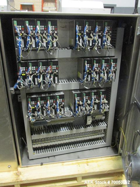 Used-Used IMA electronic vision counter, model Conta C300, dual filling heads with vision system, presently set up for 100 c...