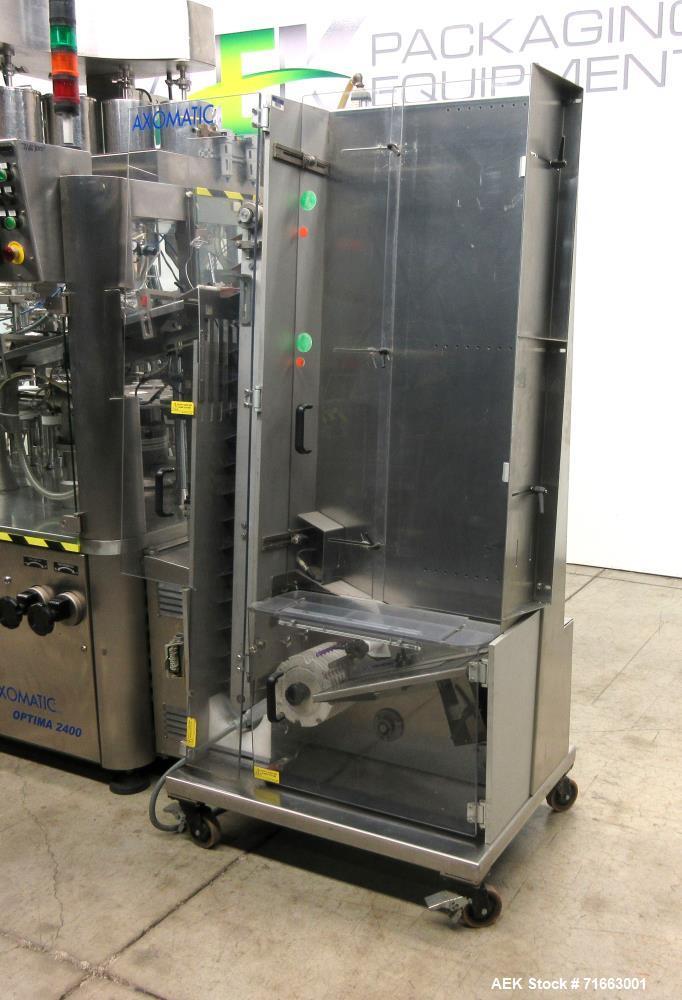 Used- Axomatic Model Optima 2400S Automatic Hot Air Plastic Tube Filler
