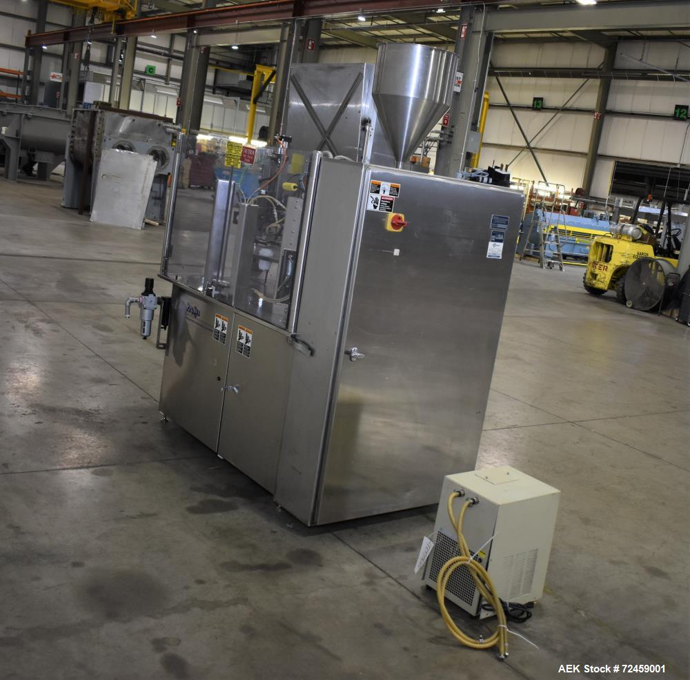 Used- Prosys RT70H Hot Air Plastic Tube Filler, Model LVF-RT-70H. Capable of speeds up to 70 tubes per minute. Single Parker...