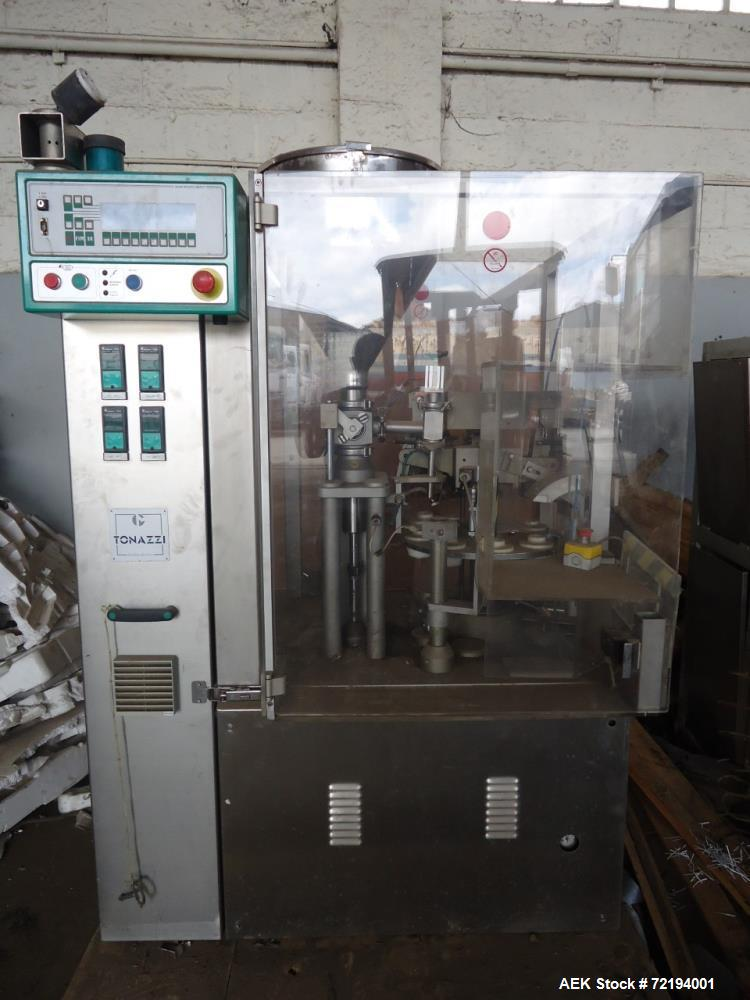 Used- Tonazzi Colibri Automatic Plastic Tube Filler and Sealer
