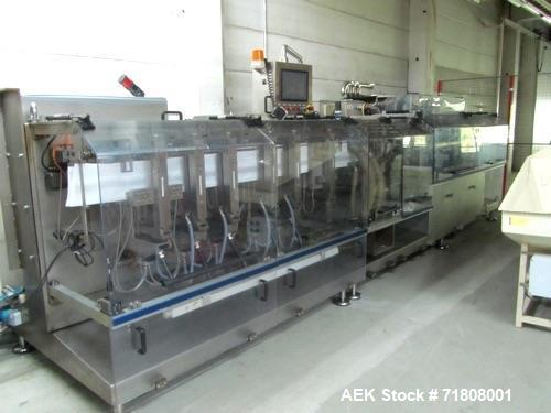Used- Bossar B3000 Stand Pouch Duplex Horizontal Form Fill Seal Machine
