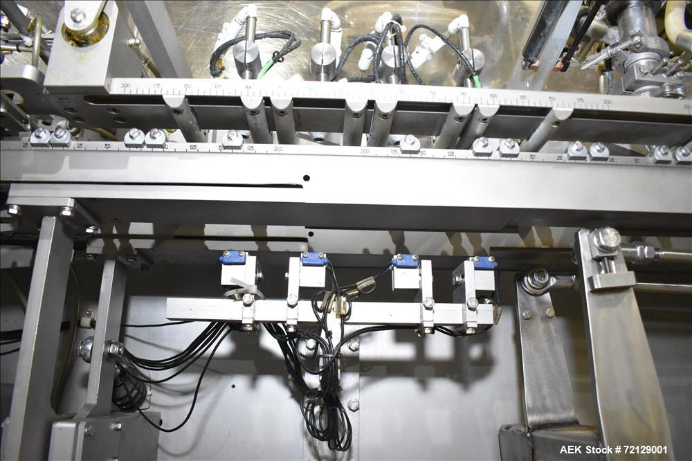 Used- Effytec Horizontal Pouch Machine with Top Spout Applicator, Model HB404
