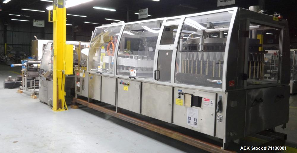 Used- Jones Model PK2000 Stand Up Pouch King, 44-Station High-Speed Bagger 4-3/4