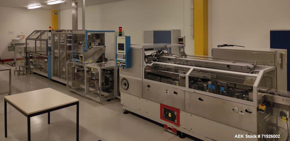 Used- Uhlmann Model UPS 1060 Continuous Pharmaceutical Blister Packing Line