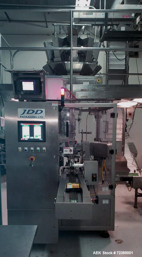 Used- JDD Model JRPM-8812 Stand Up Pouch Machine with 10 Head Scale