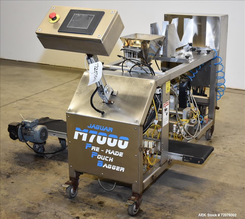 Used- Jaguar  Model M7000 Semi Automatic Pre-Made Pouch Packager, Model M7000
