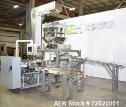 Used- Bodolay Form & Fill Horizontal Pre-Made Pouch Packager with Scale Filler.
