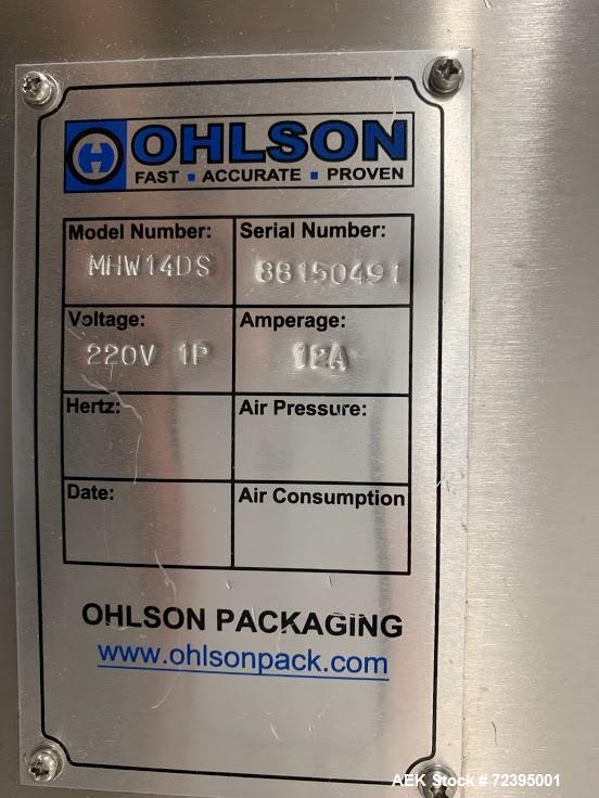 Used- Ohlson Model AP-837-IV-Z Preformed Pouch Machine