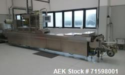 Used- Multivac R255 Thermo Forming Packager with Busch CB 250/80 vacuum pump.  375mm x 285mm  format size,  bottom film is 2...