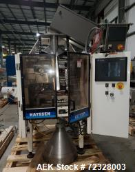 Used- Hayssen Ultima UD138 (1219) Vertical Form Fill Seal Bagger with Mateer Auger filler. Capable of speeds from 30-60 ppm....