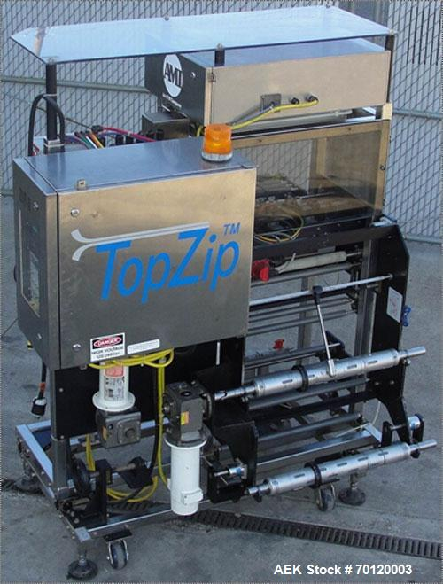 Used- AMI Top Zip Recloseable Packaging System, Model D-2500-25-RH