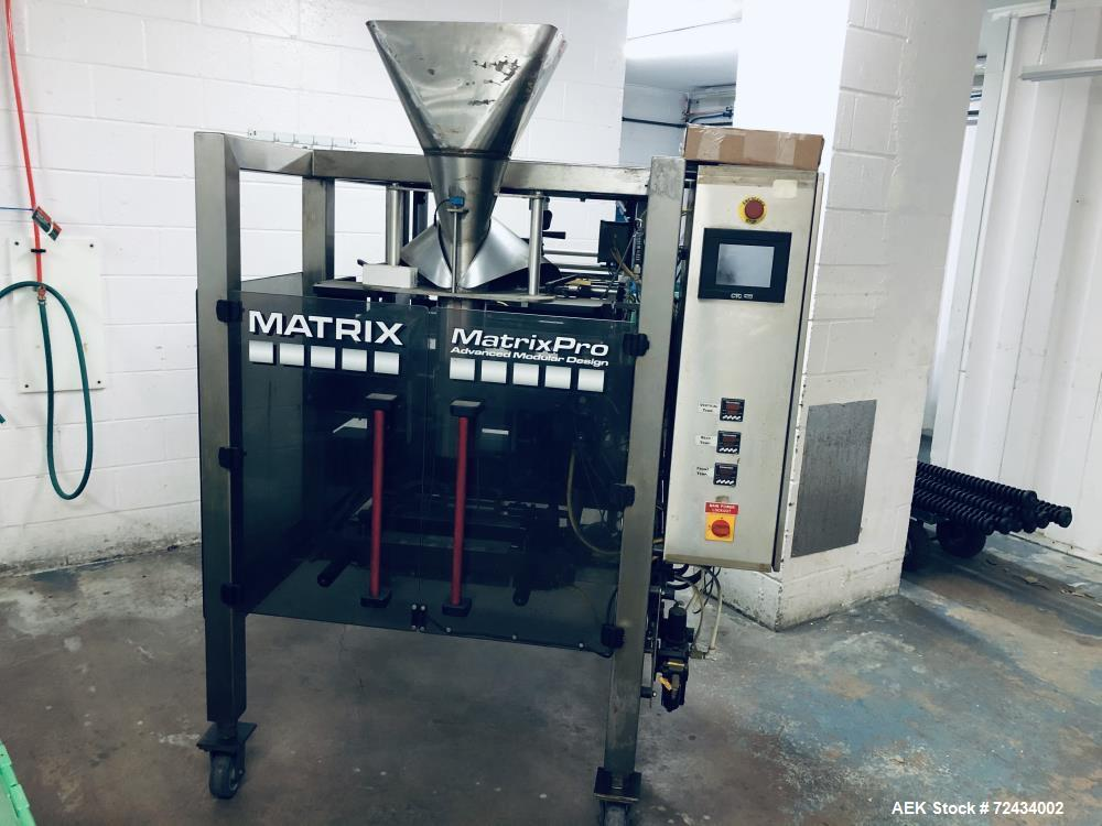 Used- Matrix Packaging MatrixPro Vertical Form Fill and Seal Machine, Model Pro Series 201315R. Capable of speeds up to 105 ...