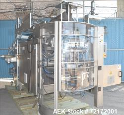Used- UVA Packaging Model N400TX Vertical Form, Fill, and Seal Machine.