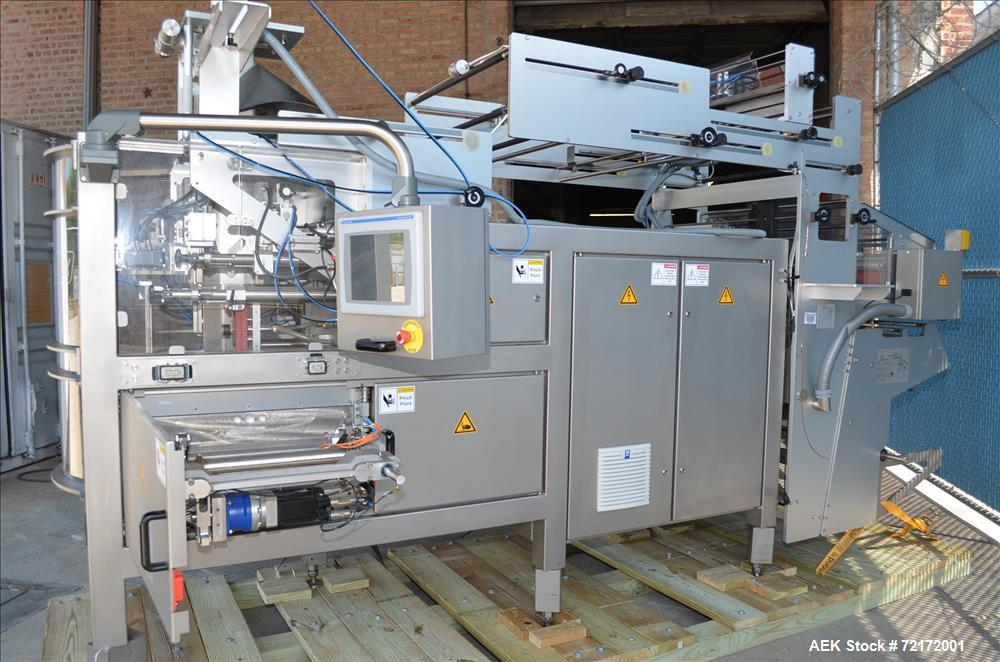 Used- UVA Packaging Vertical Form, Fill, and Seal Machine, Model N400TX