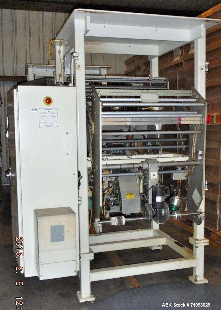 Used- Triangle Vertical Form Fill & Seal Machine, Model B22C/A918H1RN
