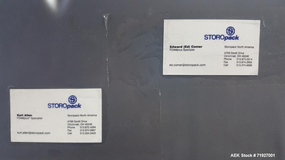 Used- Storopack Foamplus Bag Packer, Model MD-50.