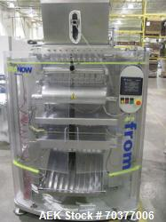 "Aranow Model Arafrom 10 Vertical Form Fill Seal ""Stickpack"" Machine.  Last running 23 mm wide x 120 ..."