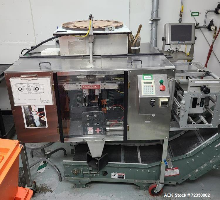 Used-Phoenix Packaging Vertical Form, Fill & Seal Pharmaceutical Strip Packager, Model GOPACKER.