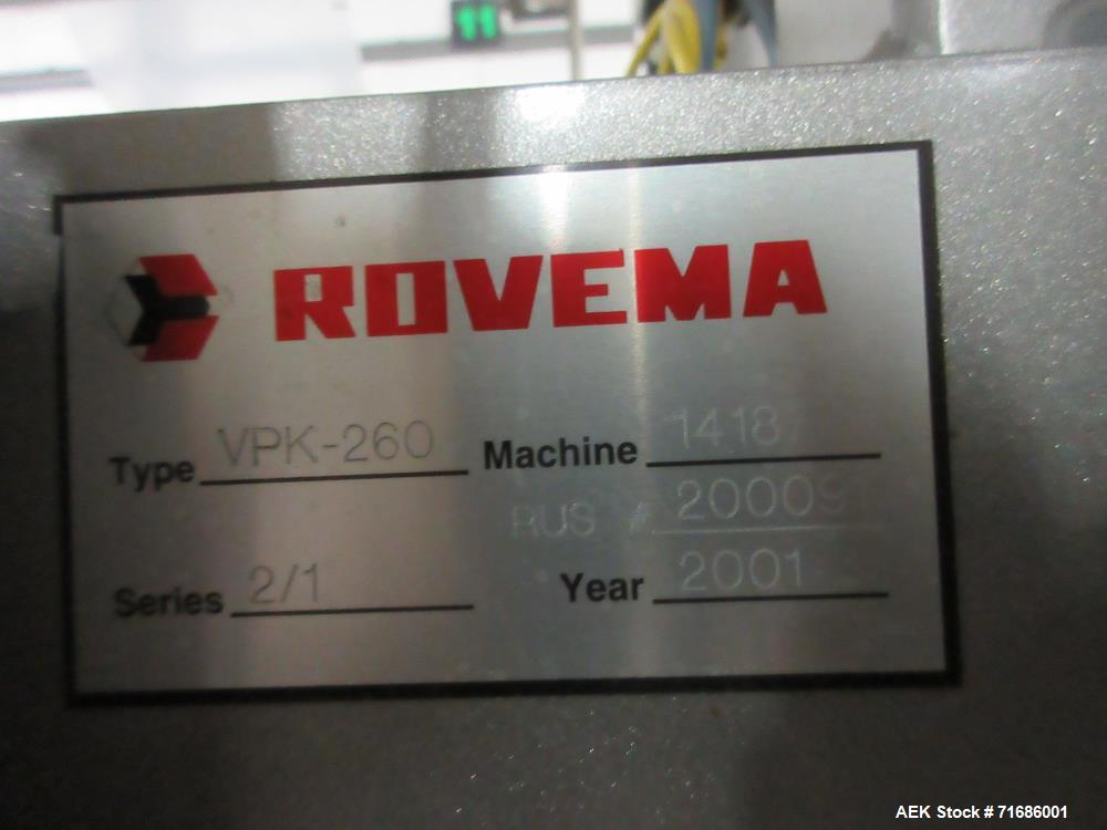 Used- Rovema Model VPK 260 Stabilo Quad Seal Vertical Form Fill And Seal Machine