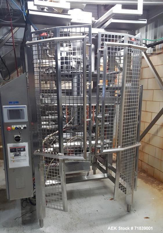 Used- Viking ES400 Vertical Form Fill Seal Machine with Yamato ADW 14 Head Scale