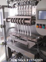 Used- Aranow, Model Araform 6 Stick Pack Machine with Enflex Cartoner. Machine is a 6 up unit set up for granular and free f...