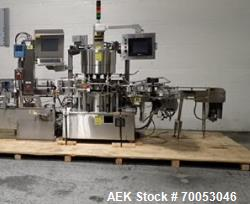 Used Sancoa rotary labeler. model# PRL 1500R-S10, 10 station, right hand label head, dual label unwi...