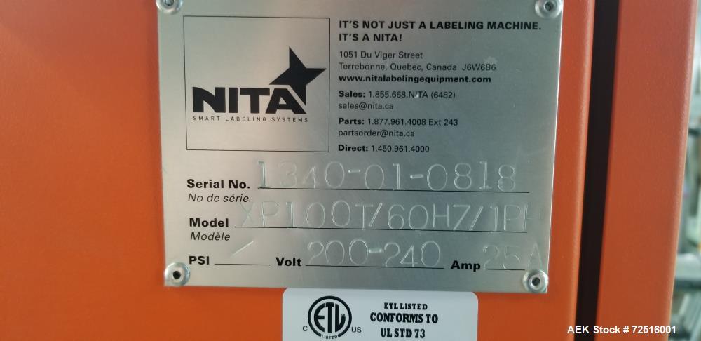 Used-Nita Labeler; Model Synerg XP100T