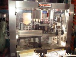 Used- Newtec 3 Station Rotary Labeler, Model Leopard Adhesive 480 F4 S3 E3.