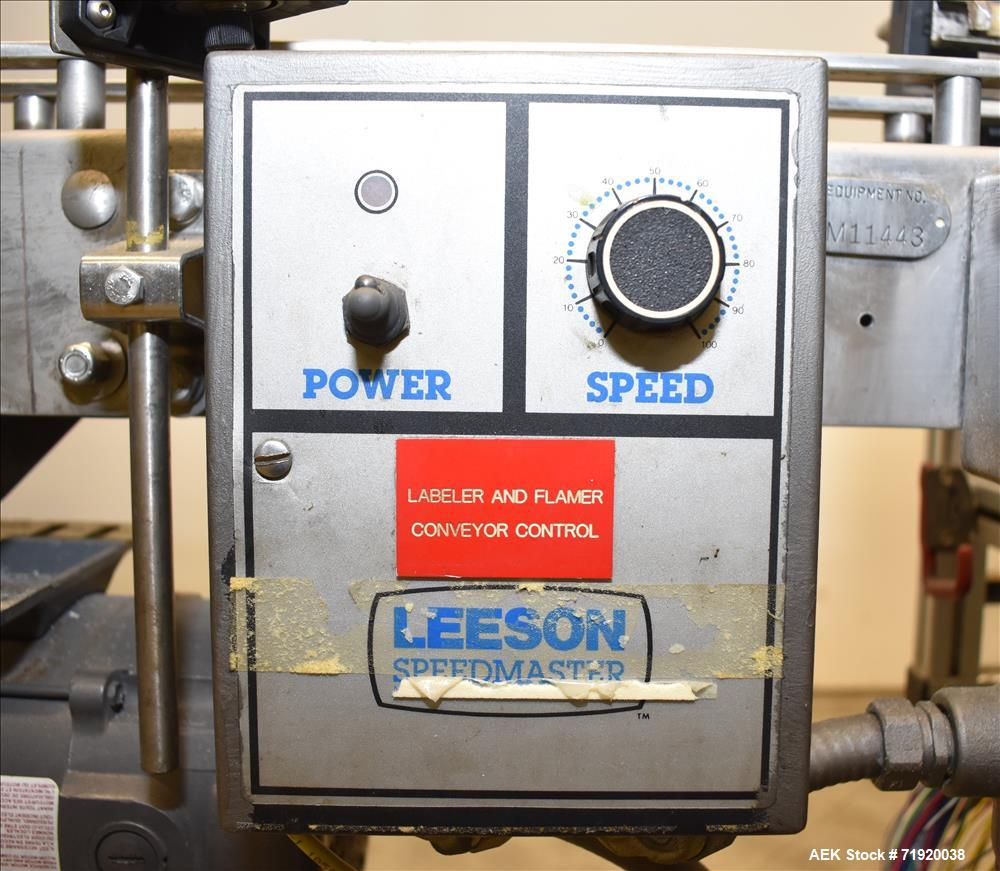 Used- Weiler Labeling Systems (Sancoa) Model RL-2000 Dual Head Front & Back Rota