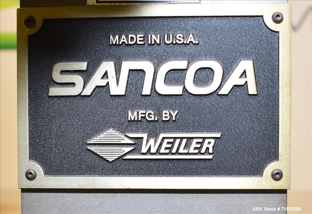 Used- Sancoa (Weiler) automatic pressure sensitive rotary labeler, Model RL-4000