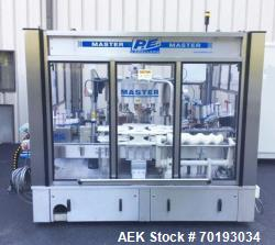 Used- P.E. Master 12 Station Rotary Pressure Sensitive Labeler.
