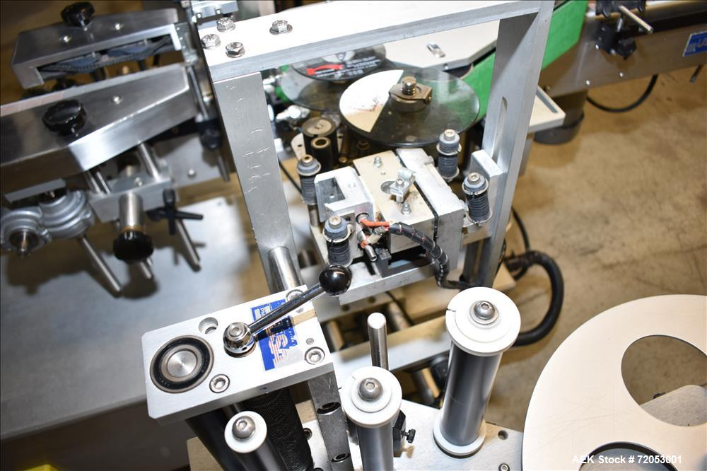 Used- Quadrel Front, Back and Wrap Labeler, Model Versaline.