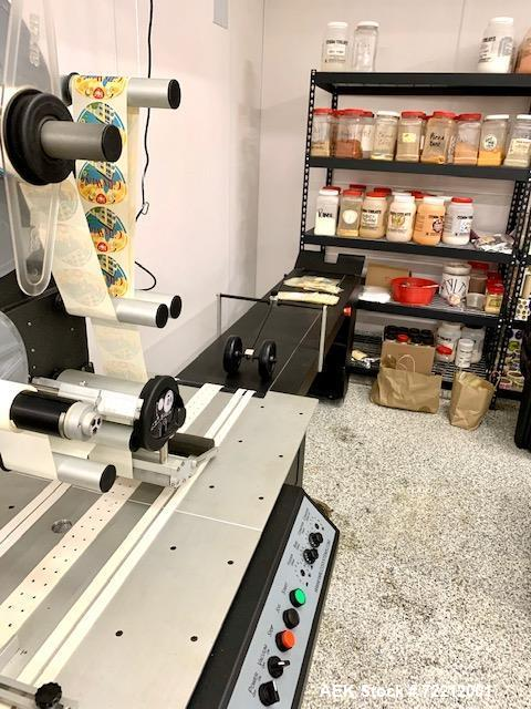 Used- Walco Systems Top Down Spot Labeler, Model F110E.