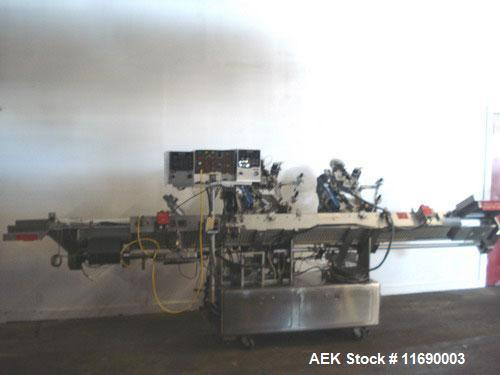 Used-Accraply Dual Head PS Vial Labeler, Model IM4000A