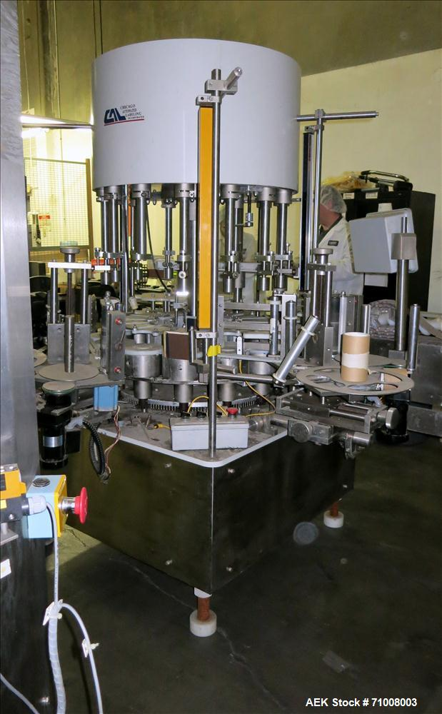 Used- Chicago Automated Labeling Inc. 14 Station Rotary Pressure Sensitive Label