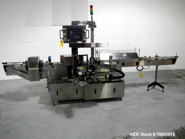 Used- New Jersey Model 334 LSBP Wraparound Pressure Sensitive Labeler