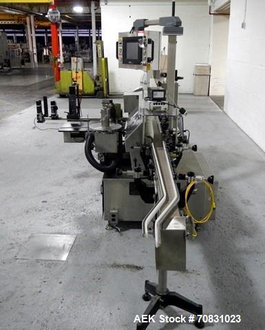 Used- New Jersey Model 334 LSBP Wraparound Pressure Sensitive Labeler