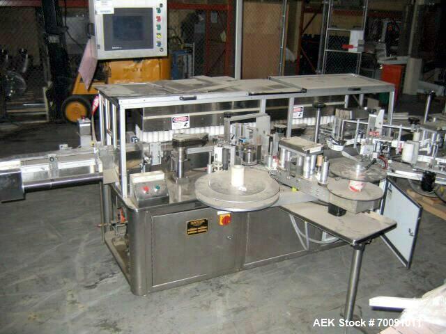 Used-Sancoa Automatic High Speed Redundant Pressure Sensitive Labeler, Model VR2